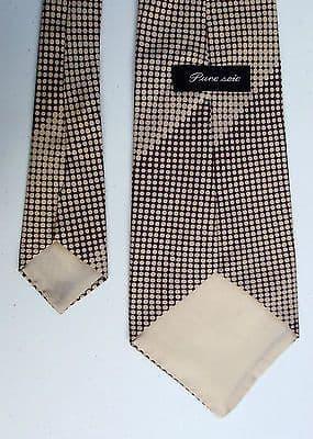 Vintage pure silk polka dot spotty tie